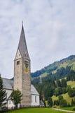 Church of st. jodok in mittelberg in the kleinwalsertal Stock Image