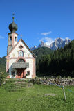 Church of St. Johann in Villnoss Royalty Free Stock Photos