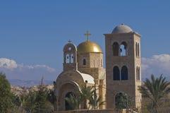 Church of St. John the baptist. The Greek Orthodox church of St. John the baptist near the Jordan river in Qasr al yahud , Israel Stock Photos