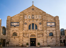 Church of St John the Baptist. The beautiful Church of St John the Baptist in the historic town of Madaba in Jordan Stock Images