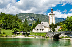 Church of St John the Baptist, Bohinj Lake Stock Image