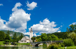 Church of St John the Baptist, Bohinj Lake Royalty Free Stock Image