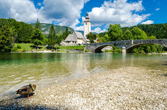 Church of St John the Baptist, Bohinj Lake Stock Photography