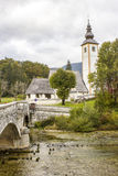 Church of St John the Baptist, Bohinj Lake, Slovenia Royalty Free Stock Photo