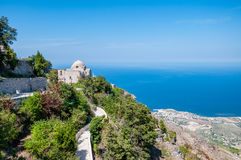 The Church of St. John the Baptist in Erice, Sicily Royalty Free Stock Images