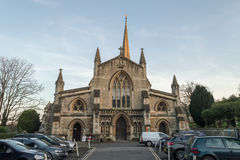 Church of St John the Baptist Facade Royalty Free Stock Images