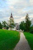 Church of St. John the Baptist in Ribchev Laz village. Bohinj Lake, Triglav national park Slovenia, Julian Alps, Europe Stock Photos