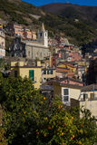 Church of St. John the Baptist Riomaggiore royalty free stock image