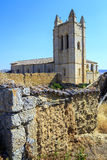 Church of St. John in Castrojeriz Burgos. Spain dates from the thirteenth century, with defensive tower Stock Photos