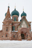 The Church Of St. John Chrysostom. In winter. Golden Ring of Russia Royalty Free Stock Photos
