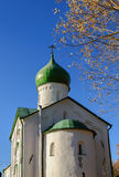 Church of St. John the Evangelist on Vitka river. Veliky Novgorod Royalty Free Stock Photography