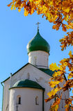 Church of St. John the Evangelist on Vitka river. Veliky Novgorod Stock Photography