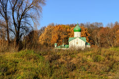 Church of St. John the Evangelist on Vitka river. Veliky Novgorod Stock Photos