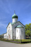 Church of St. John the Evangelist on Vitka river. Veliky Novgorod, Russia Royalty Free Stock Image
