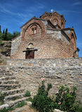 Church St. John/Jovan Kaneo. At the top of the hill in Ohrid lake, Macedonia Royalty Free Stock Images