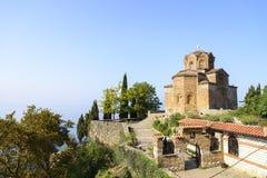 Church of St. John at Kaneo, Ohrid Stock Photography