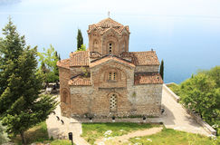 Church of St. John Kaneo in Ohrid, Macedonia Stock Images