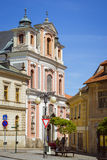The church of st. John of Nepomuk (Kostel svateho Jana Nepomuckeho). KUTNA HORA, CZECH REPUBLIC - AUGUST 26, 2015: The church of st. John of Nepomuk (Kostel Stock Photography