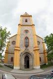 The Church of St. John of Nepomuk. Neo-gothic church of Saint John of Nepomuk, located in Hluboka nad Vltavou (Czech Republic stock images