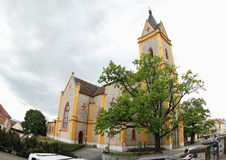 The Church of St. John of Nepomuk. Neo-gothic church of Saint John of Nepomuk, located in Hluboka nad Vltavou (Czech Republic stock photos