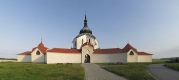 Church of St. John of Nepomuk at Zelena Hora Royalty Free Stock Photo