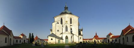 Church of St. John of Nepomuk at Zelena Hora Royalty Free Stock Photos