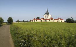 Church of St. John of Nepomuk at Zelena Hora Stock Images