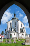 Church of St. John of Nepomuk, Zelena Hora, UNESCO,Zdar nad Saza Royalty Free Stock Photography