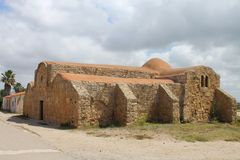 The church of St. John of Sinis in San Giovanni di Sinis Sardinia Italy Royalty Free Stock Photo