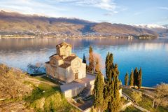Church of St. John the Theologian -at Kaneo, Ohrid, Macedonia Royalty Free Stock Image
