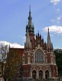 Church of St. Joseph. Gothic St. Joseph`s Church, located on the right bank of the Vistula River Stock Photos
