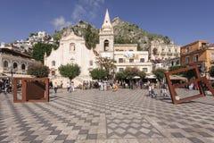 Church of St. Joseph. Taormina, Italy, Sicily, Church of St. Joseph, the area on April 9 Royalty Free Stock Photography