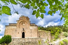 Church of St.Jovan Kaneo and Lake Ohrid, Macedonia royalty free stock images