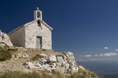 The church St. Jure. National park Biokovo (Croatia Stock Image