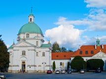 Church of st Kazimerz, Warsaw, Poland Stock Images