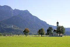 Church of St. Koloman near Schwangau, Bavaria. Church of St. Koloman near Schwangau, Ostallgaeu district, Allgaeu, Bavaria, Germany, Europe Royalty Free Stock Image