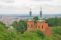 Church of St. Laurence on Petrin, Prague Royalty Free Stock Images