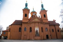 Church of St. Lawrence on Petrin close-up. royalty free stock photography