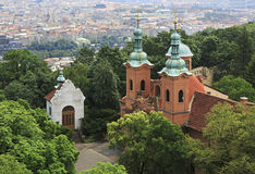 Church of St Lawrence. View from Petrin Lookout Tower Stock Photo