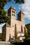 The church of St. Leger in Murbach abbey in France Stock Images