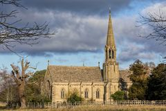 Church of St Leonard, Charleote, Warwickshire, England. The Church of St Leonard originates from the medieval period, however it was entirely rebuilt by the Royalty Free Stock Photography