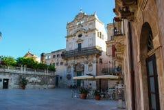 The Church of St. Lucia alla Badia in Syracuse. Sicily Royalty Free Stock Photo