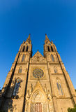 The Church of St. Ludmila at the Peace Square in Prague, Czech Republic Stock Image