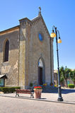 Church of St. Maria Assunta. Torre Alfina. Lazio. Italy. Royalty Free Stock Image