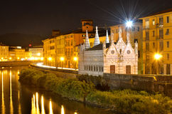 Church St Maria dela Spina, Arno river, Tuscany Royalty Free Stock Image