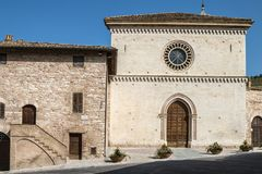 Church of St. Maria di Vallegloria in the city of Spello Royalty Free Stock Photography
