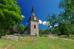 Church of St. Maria Magdalena, Aland Islands Royalty Free Stock Images