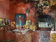 Church `St. Maria` - Ohrid, XV century royalty free stock images