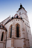 Church of St Mark - tower in Zagreb, Croatia Royalty Free Stock Photography