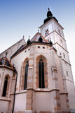 Church of St Mark - tower in Zagreb, Croatia Royalty Free Stock Image